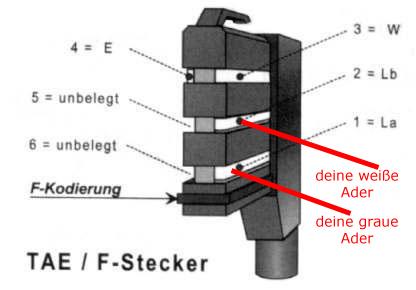 Hervorragend Hardware Frage - Wie Kabel ohne Stecker an TAE-F-Buchse LB32